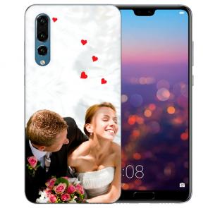 Huawei P20 Pro Silikon Case TPU Hülle mit Foto Bild namen Druck