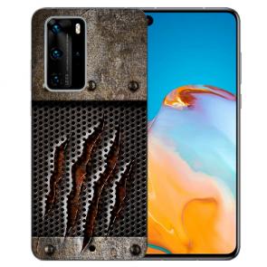Silikon TPU Hülle mit Bilddruck Monster-Kralle für Huawei P40 Etui