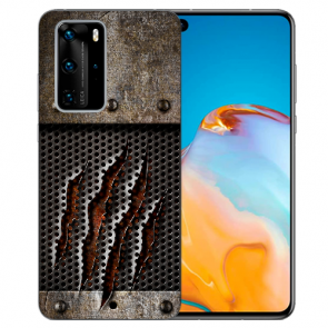Silikon TPU Hülle mit Fotodruck Monster-Kralle für Huawei P40 Pro