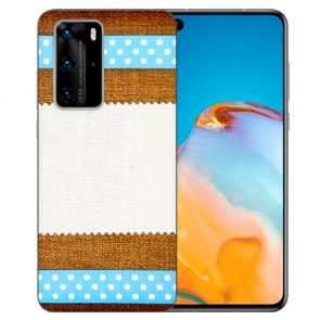 Huawei P40 Silikon TPU Handy Hülle mit Bilddruck Muster Case