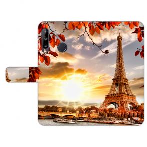 Handy Hülle mit Bilddruck Eiffelturm für Huawei Y9 (2019) Schutzhülle