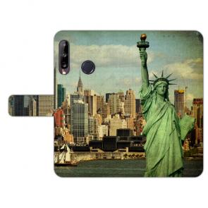 Handy Hülle für Huawei Y9 (2019) mit Bilddruck Freiheitsstatue Etui