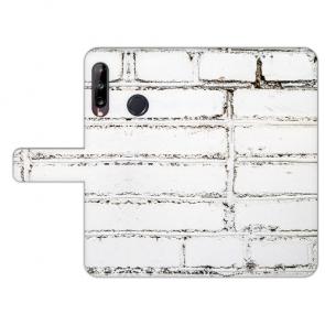 Huawei Y9 (2019) Individuelle Handy Hülle mit Fotodruck Weiße Mauer