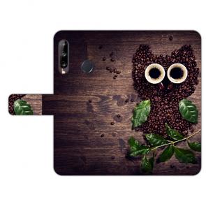 Schutzhülle für Huawei Y9 (2019) Handy Hülle mit Bild Druck Kaffee Eule