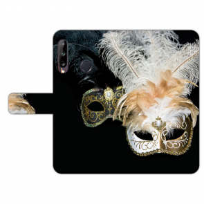 Huawei Y9 (2019) Handy Hülle mit Venedig Maske Foto Druck Etui