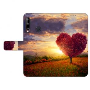 Personalisierte Handy Hülle für Huawei Y9 (2019) mit Bilddruck Herzbaum