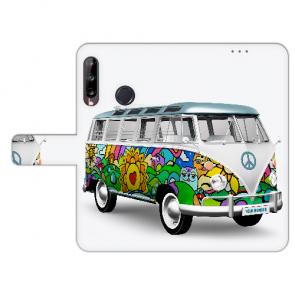Personalisierte Huawei Y9 (2019) Handy Hülle mit Hippie Bus Foto Druck