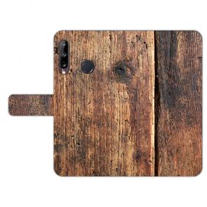 Huawei Y9 (2019) Schutzhülle Handy Hülle mit Fotodruck HolzOptik Cover