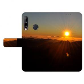 Huawei Y9 (2019) Handy Hülle mit Sonnenaufgang Foto Druck Etui