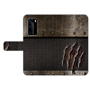 Huawei P40 Pro Handy Hülle mit Bilddruck Monster-Kralle Etui