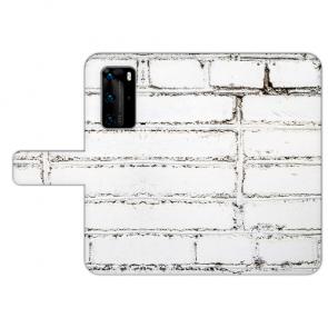 Handy Hülle mit Bilddruck Weiße Mauer für Huawei P40 Pro Schutzhülle