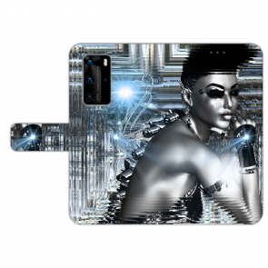 Handy Hülle mit Bilddruck Robot Girl für Huawei P40 Pro Schutzhülle