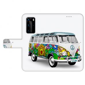 Handy Hülle Tasche mit Bilddruck Hippie Bus für Huawei P40
