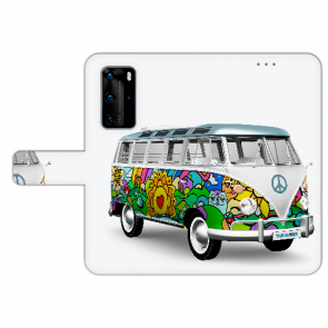 Huawei P40 Pro Personalisierte Handy Hülle mit Bilddruck Hippie Bus