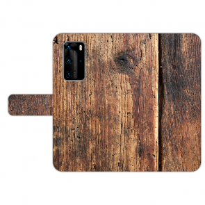Schutzhülle Handy Hülle Tasche mit Bilddruck HolzOptik für Huawei P40