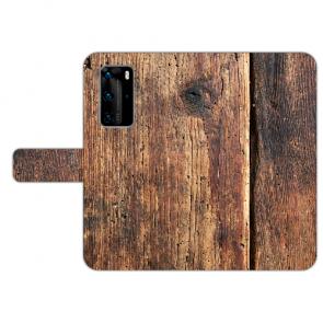 Personalisierte Handy Hülle mit Bilddruck HolzOptik für Huawei P40 Pro