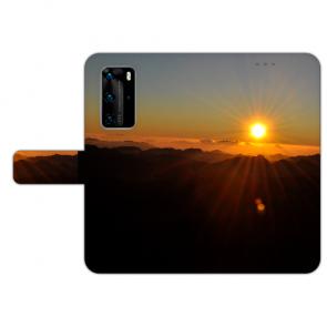 Handy Hülle Tasche mit Bilddruck Sonnenaufgang für Huawei P40