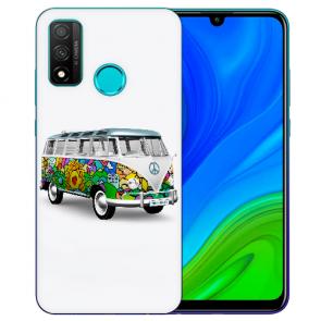 Huawei P Smart 2020 TPU Hülle mit Fotodruck Hippie Bus Etui