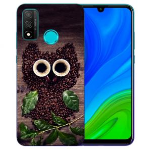 Huawei P Smart 2020 TPU Hülle mit Fotodruck Kaffee Eule Etui