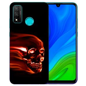 Huawei P Smart 2020 TPU Hülle mit Fotodruck Totenschädel Etui