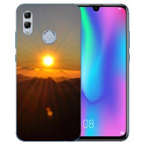 Huawei Honor 10 Lite Silikon TPU Hülle mit Bilddruck Sonnenaufgang