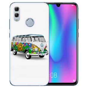 Huawei Honor 10 Lite Silikon TPU Hülle mit Bilddruck Hippie Bus