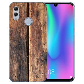 Huawei Honor 10 Lite Silikon TPU Hülle mit Bilddruck HolzOptik