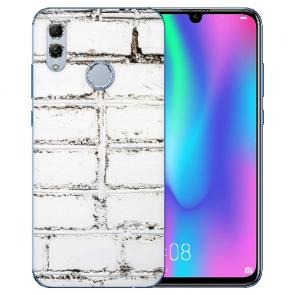 Huawei Honor 10 Lite Silikon TPU Case mit Bilddruck Weiße Mauer