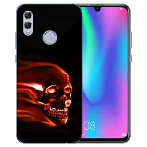 Huawei Honor 10 Lite Silikon TPU Hülle mit Bilddruck Totenschädel
