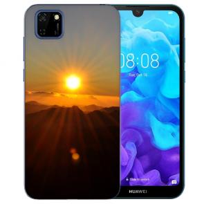 Huawei Y5P (2020) TPU Hülle mit Fotodruck Sonnenaufgang Etui
