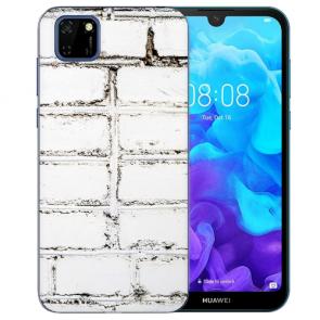 Huawei Y5P (2020) TPU Hülle mit Fotodruck Weiße Mauer Etui