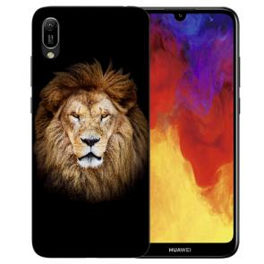 Silikon TPU Schutzhülle mit Löwe Bilddruck für Huawei Y5 (2019) Etui