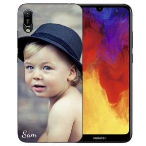 Huawei Y6 (2019) Silikon TPU Case Schutzhülle mit Foto Namen Bilddruck