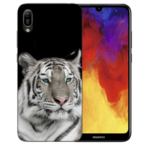 Huawei Y5 (2019) Silikon TPU Schutzhülle mit Tiger Namen Bilddruck