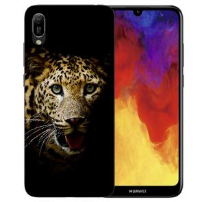 Huawei Y5 (2019) Silikon TPU Schutzhülle mit Leopard Bilddruck
