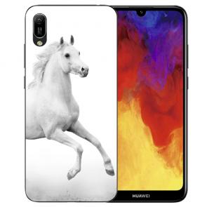 Huawei Y5 (2019) Silikon TPU Schutzhülle mit Pferd Namen Bilddruck