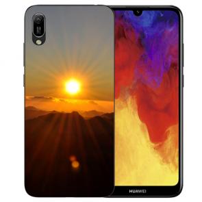 Huawei Y6 (2019) Silikon TPU Hülle mit Bilddruck Sonnenaufgang