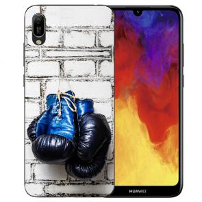Huawei Y5 (2019) Silikon TPU Schutzhülle mit Boxhandschuhe Bilddruck