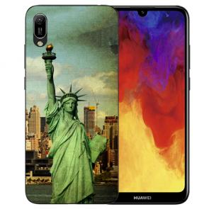 Huawei Y6 (2019) Silikon TPU Hülle mit Freiheitsstatue Bilddruck
