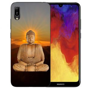 Huawei Y6 (2019) Silikon TPU Hülle mit Bilddruck Frieden buddha Etui