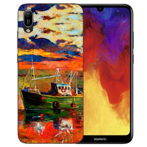 Silikon TPU Hülle mit Bilddruck Gemälde für Huawei Y6 (2019) Etui