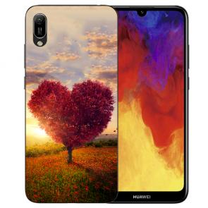 Silikon TPU Hülle mit Bilddruck Herzbaum für Huawei Y6 (2019) Etui