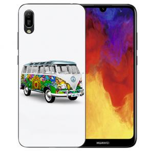 Huawei Y6 (2019) Silikon TPU Hülle mit Bilddruck Hippie Bus