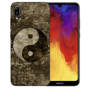 Silikon TPU Hülle mit Bilddruck Yin Yang für Huawei Y6 (2019) Etui