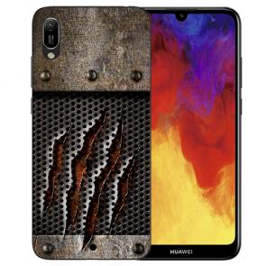 Huawei Y6 (2019) Silikon TPU Hülle mit Bilddruck Monster-Kralle