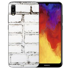 Huawei Y6 (2019) Silikon TPU Handy Hülle mit Bilddruck Weiße Mauer