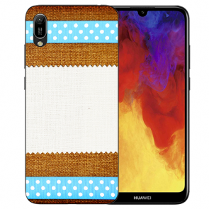 Huawei Y6 (2019) Silikon TPU Handy Hülle mit Bilddruck Muster Etui