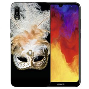 Huawei Y5 (2019) Silikon TPU Handy Hülle mit Bilddruck Venedig Maske
