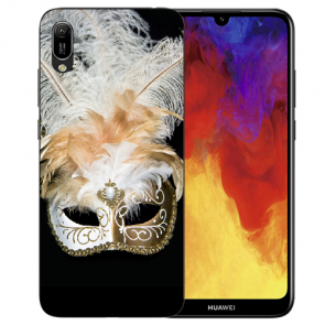 Huawei Y6 (2019) Silikon TPU Hülle mit Bilddruck Venedig Maske