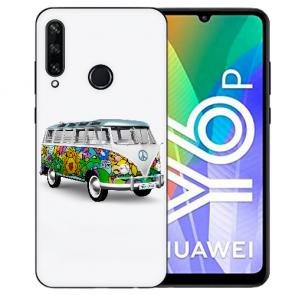 Huawei Y6P (2020) TPU Hülle mit Fotodruck Hippie Bus Etui